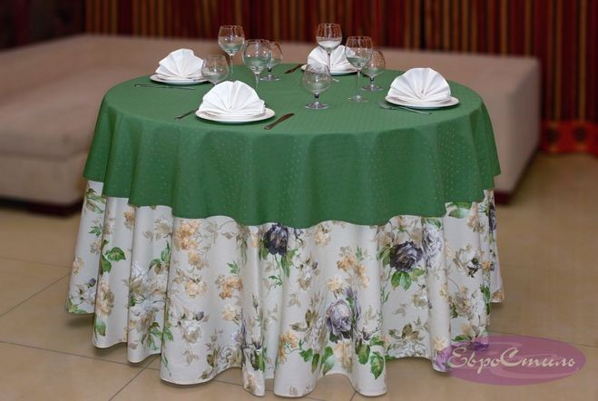 Скатерть на круглый стол фото своими руками