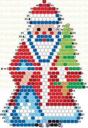 Плетение Деда Мороза
