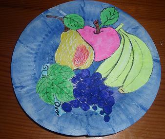 Поделка фрукты на тарелке 20