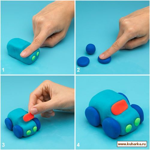 Как слепить машину из мастики