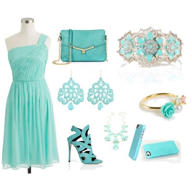 Подходящие цвета к мятному платью