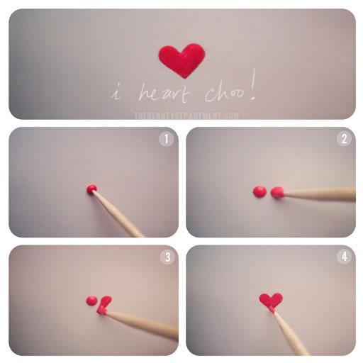 сказать нарисовать сердце