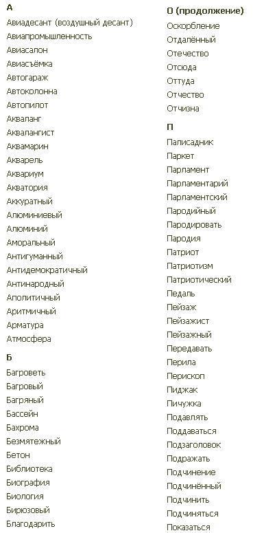 Русский язык 6 класс словарные слова межуева ответы