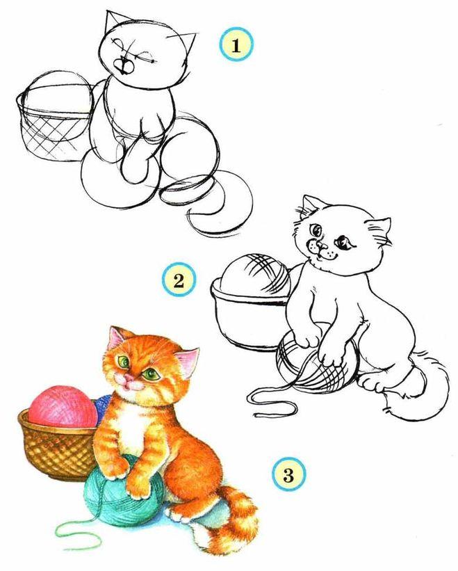 Как рисовать животных поэтапно собака