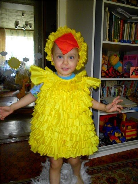 Костюма цыпленка своими руками