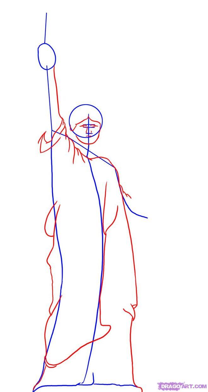 Рисунки карандашом поэтапно статуи