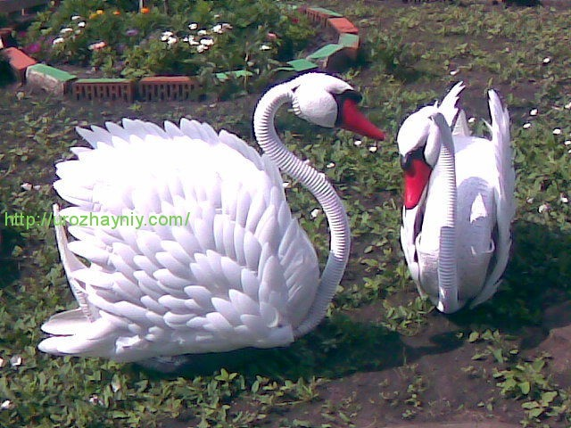 Лебеди из покрышек своими руками мастер класс