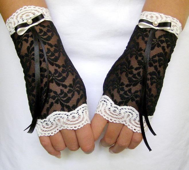 Как сшить перчатки из кружева с пальцами