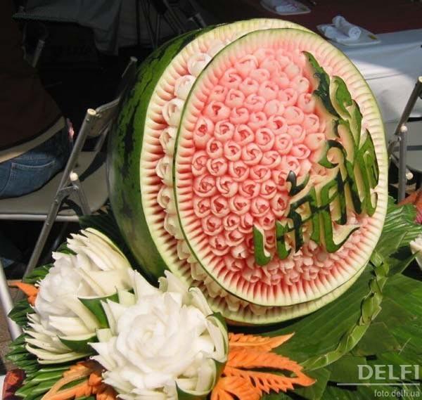 Букет из фруктов своими руками с целыми фруктами