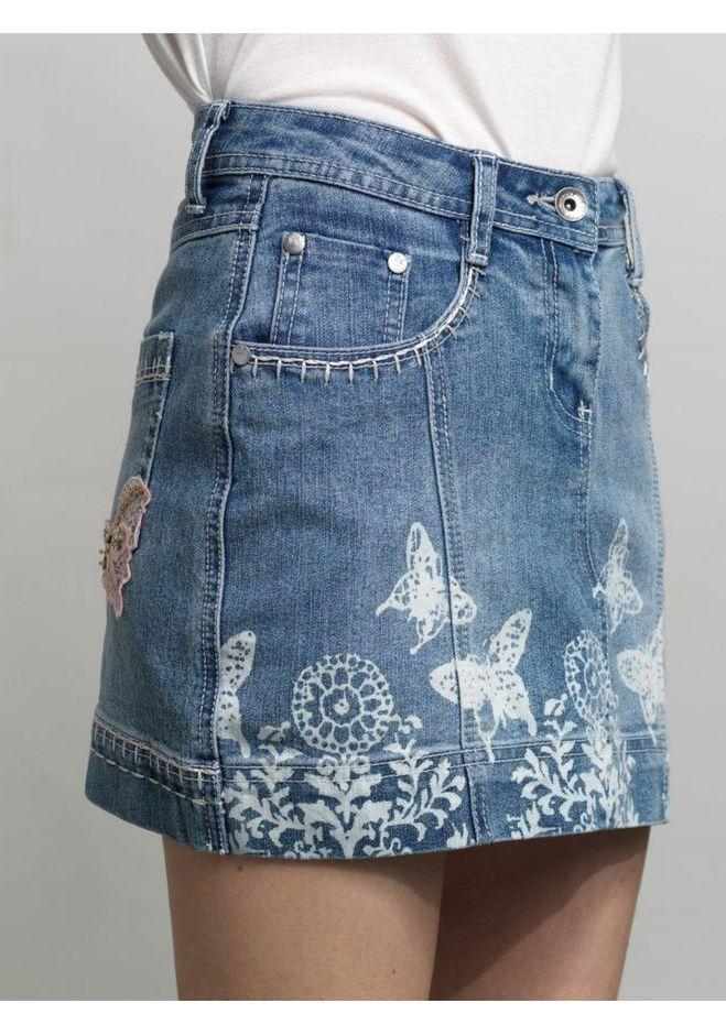 Украшения для джинсовой юбки