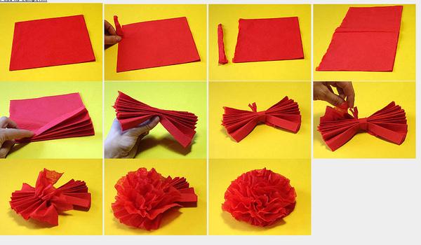 Цветы из салфеток своими руками букет