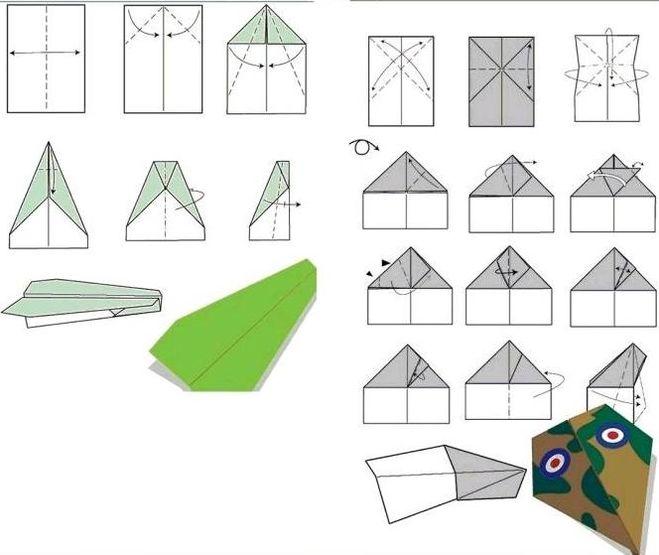 самолётика из бумаги,