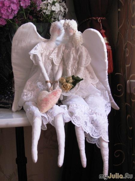 Ангелы к рождеству своими руками
