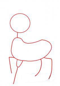 как рисовать оленя 1