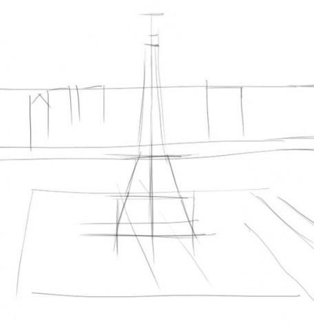 Как рисовать карандашом эйфелеву башню поэтапно карандашом