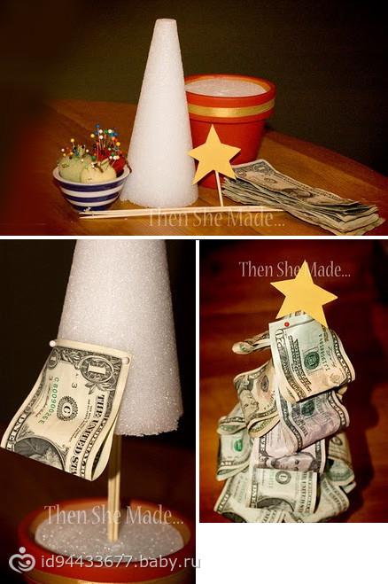 Как сделать цветок из денег своими руками