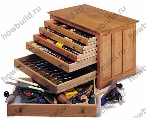 Ящик из дерева для инструментов