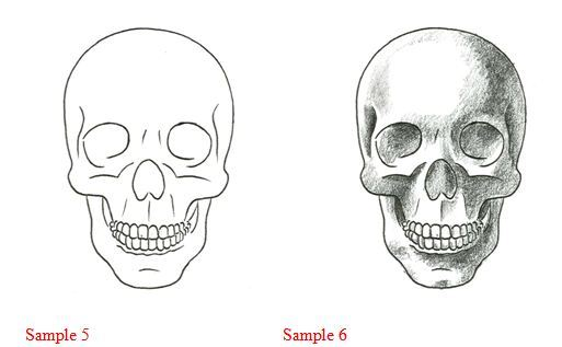 how to draw a cool skull step by step