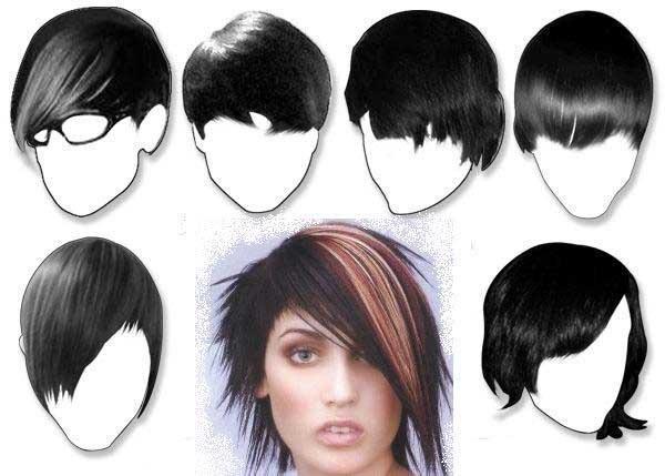 Как сделать причёску эмо