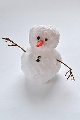 как сделать снеговик из ваты