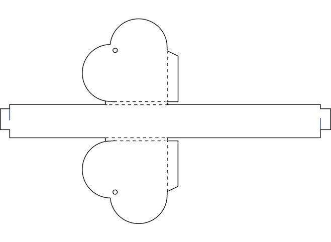 Коробочка в виде сердца своими руками схема