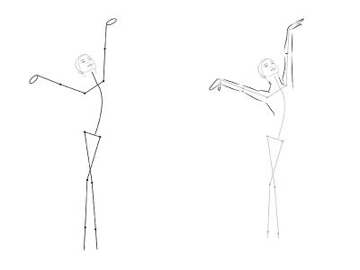 как нарисовать балерину