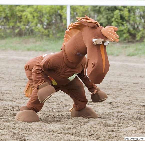 Как сделать костюм лошади