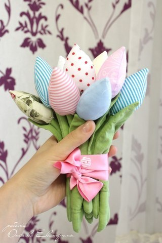 Выкройки тюльпанов из ткани своими руками фото 842