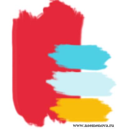 красный голубой желтый белый
