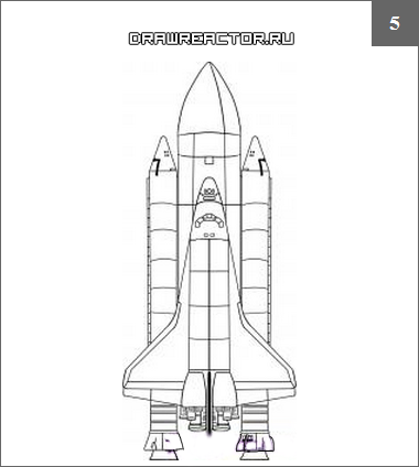 Как нарисовать ракету поэтапно карандашом для начинающих