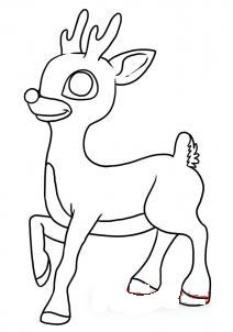 как рисовать оленя 6