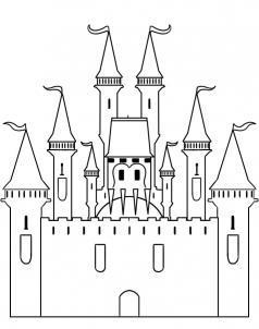 Как рисовать замок
