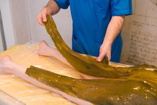 Морская капуста на теле