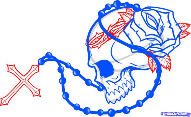 как рисовать череп карандашом поэтапно: