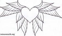 Как нарисовать сердце с крыльями?