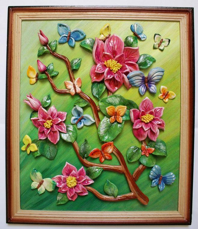 Поделки своими руками картины цветы