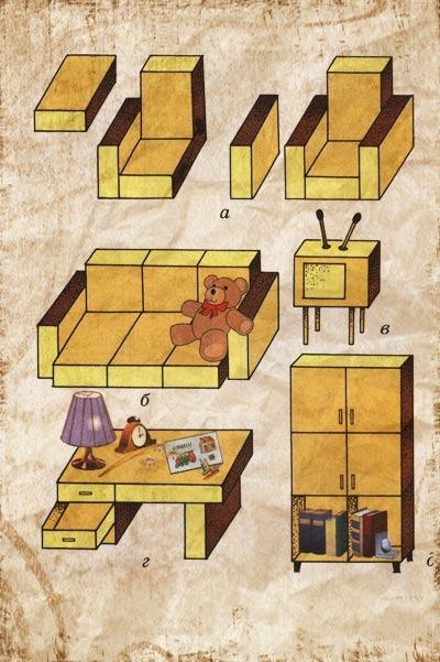 Кукольный домик своими руками из спичечных коробков
