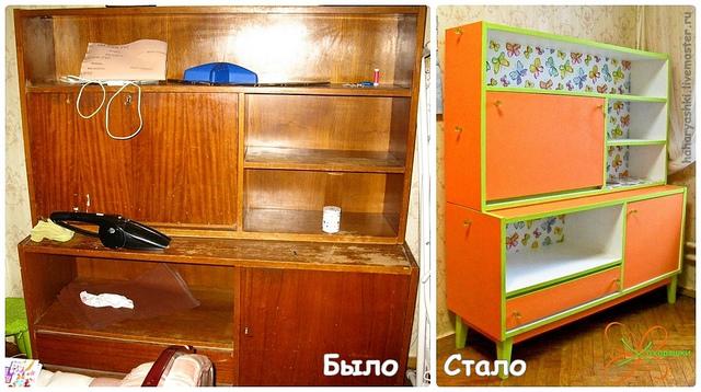 Задекорировать старый шкаф своими руками