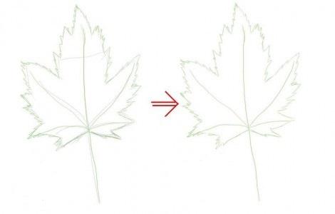 как нарисовать листья 2