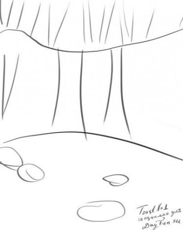 нарисовать водопад