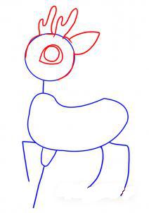 как рисовать оленя 2
