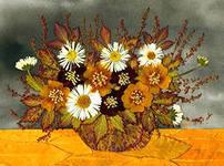 Как сделать картину из сухих цветов