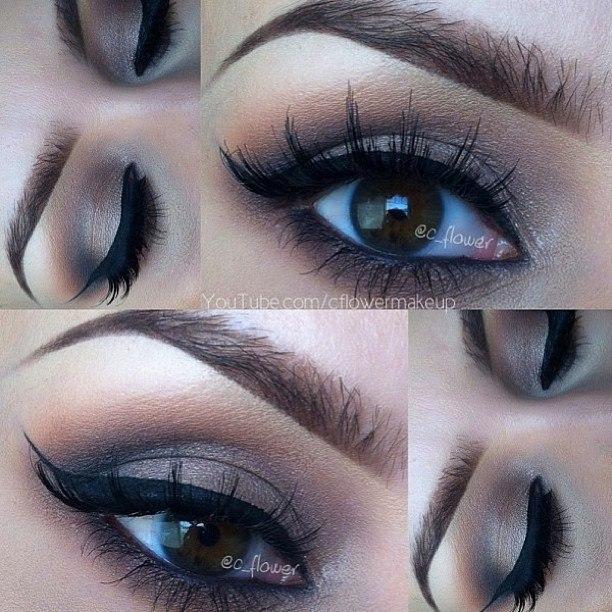 Eye makeup for big brown eyes