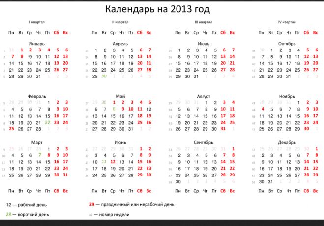 мая 2013 год календарь: