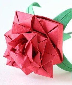 Как сделать из бумаги розу а4