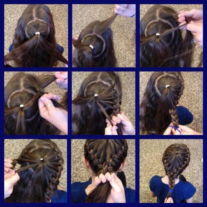 Детская прическа на средние волосы своими руками фото