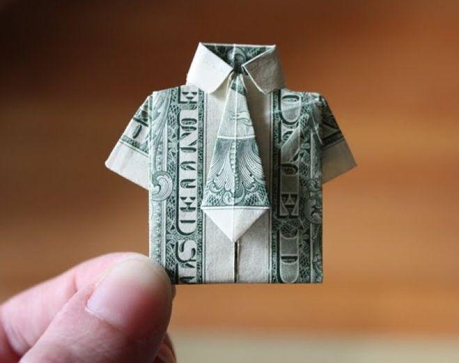 Что можно сделать из бумажных денег своими руками