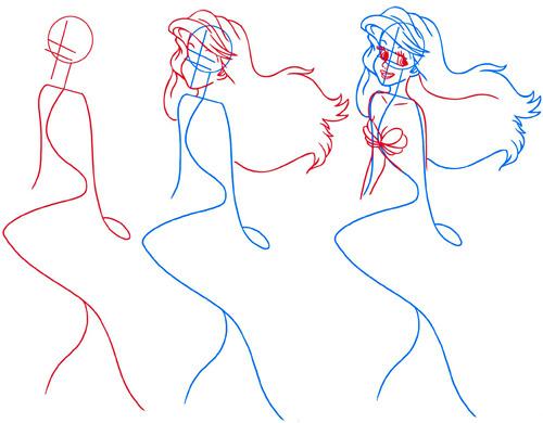 Как нарисовать русалку? - Этапы рисования - Все техники и образы