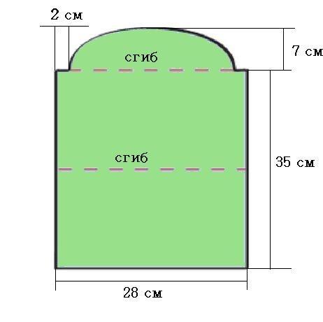 Выкройка клатча из ткани