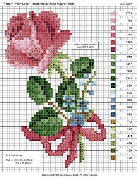 Схема вышивки бисером розы фото 215